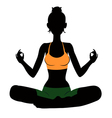 Meditating vector image