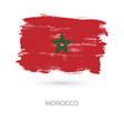 morocco colorful brush strokes painted national vector image vector image