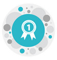of office symbol on award icon vector image vector image
