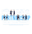 partnership business concept in a flat style vector image vector image