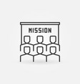 people and mission presentation outline vector image vector image
