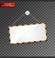 realistic hanging panel billboard vector image vector image