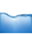 realistic water vector image vector image