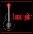 romantic guitar vector image