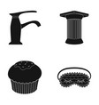 sanitary ware cooking and or web icon in black vector image