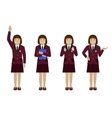 School girl in uniform flat vector image vector image