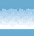 seamless cloudscape cartoon background pattern vector image