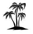 set hand drawn palm tree design element vector image vector image