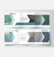 set of business templates for tri fold brochures vector image vector image