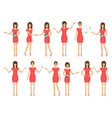 set of girls in dresses and sandals vector image vector image