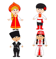 set of isolated children of Russia and Georgia vector image vector image