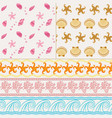 set of two nautical seamless patterns and three vector image vector image