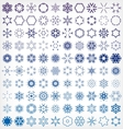 Set of winter snowflake icons vector image