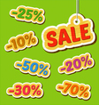 Set of wooden price tags vector image
