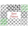 Sport balls seamless patterns vector image