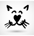 Sweet Kitty Face Icon vector image
