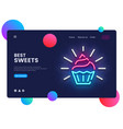 sweets shop design template candy shop web vector image