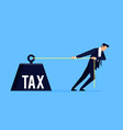 taxpayer business concept vector image vector image