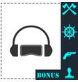 virtual reality icon flat vector image