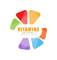 vitamins logo template original design abstract vector image vector image