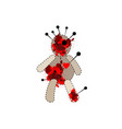 voodoo doll for black magic isolated vector image vector image