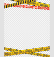 warning tapes on transparent background design vector image