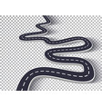 winding road isolated transparent special effect vector image vector image