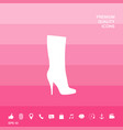 women shoes icon the modern silhouette menu item vector image