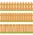 wooden fences vector image vector image