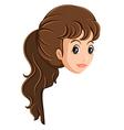 A head of a girl vector image