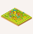 children playground isometric vector image