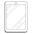 internet tablet vector image