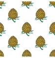 golden young pineapple on light background vector image
