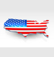 usa 3d flag in form of map vector image
