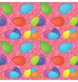 Seamless background Easter eggs vector image