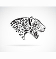 a leopard on white background wild animals easy vector image vector image