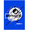abstract geometric poster vector image vector image