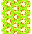 Abstract green mosaic seamless pattern vector image
