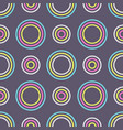 abstract seamless pattern color circles vector image vector image