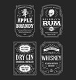 alcohole labels set vector image vector image