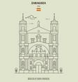 basilica santa engracia in zaragoza vector image vector image