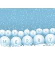 bingo lottery ball Christmas snowballs vector image vector image