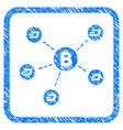 bitcoin dash network framed stamp vector image vector image