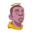 black man with a head nimbus vector image vector image
