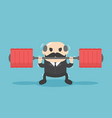 business leaders who show a weight lifting vector image vector image