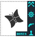 butterfly icon flat vector image