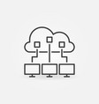cloud computing outline icon cloud with vector image