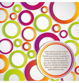 Colored circles with space for text vector image vector image