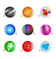 colorful grunge pins badges vector image vector image