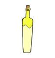comic cartoon posh bottle vector image vector image